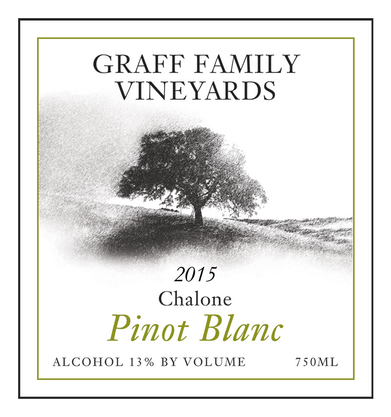 Graff Family Vineyards Pinot Blanc 2015 wine label
