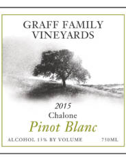Graff Family Vineyards Pinot Blanc white wine from 2014